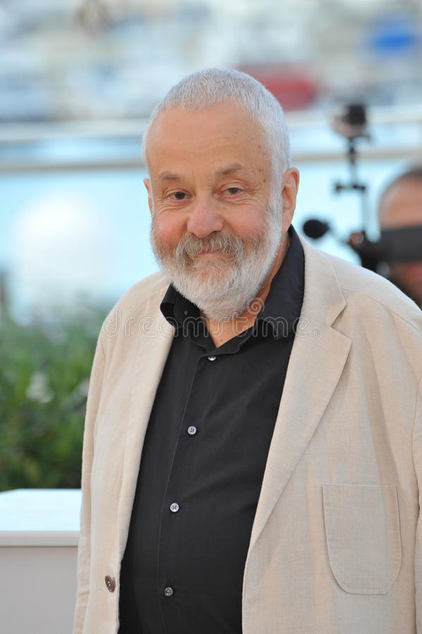 Mike Leigh. CANNES, FRANCE - MAY 15, 2014: Director Mike Leigh at the photocall for his new movie Mr. Turner at the 67th Festival de Cannes royalty free stock images