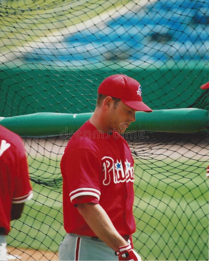 Mike Lieberthal, Philadelphia Phillies. Philadelphia Phillies catcher Mike Lieberthal. (Image taken from color slide stock photography