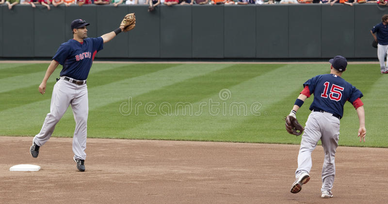 Download Mike Lowell And Dustin Pedroia Editorial Stock Photo - Image: 14187783