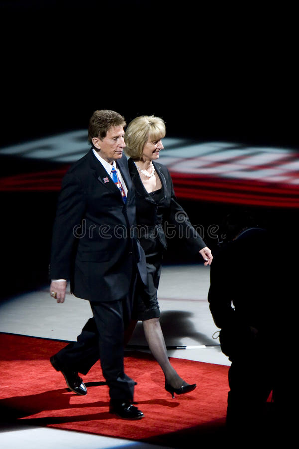 Mike And Marian Illitch. Make an appearance at Steve Yzerman Night, January 3, 2007 stock photo
