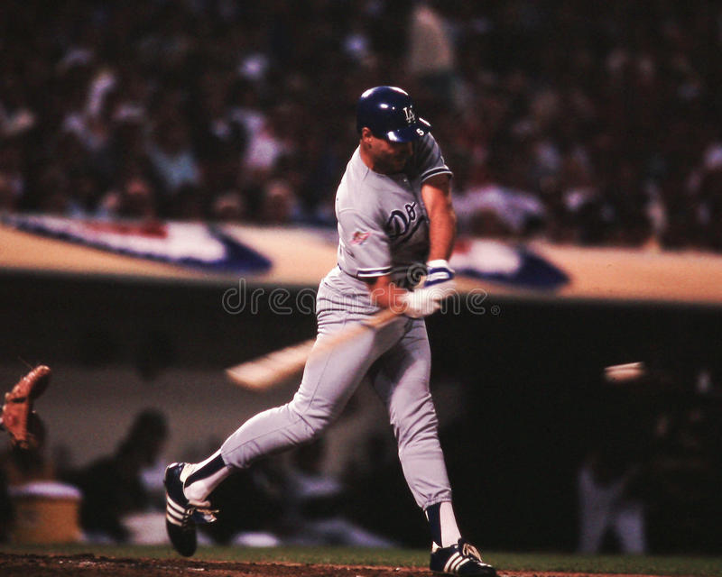 Mike Marshall, Los Angeles Dodgers. LA Dodgers 1B Mike Marshall. (Image taken from color slide royalty free stock photography