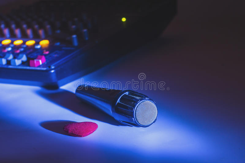 Mike microphone device to record audio.  royalty free stock photo