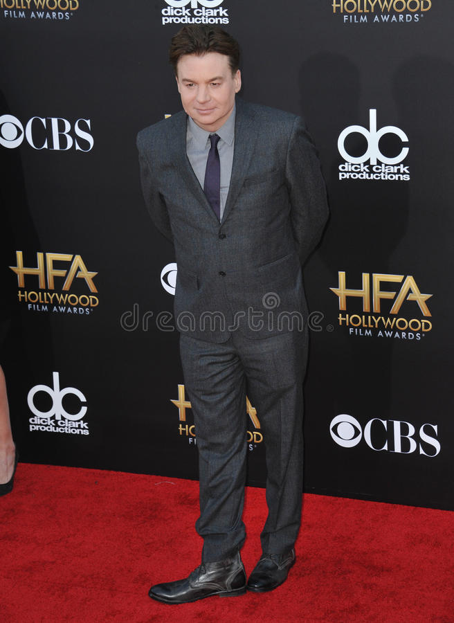 Mike Myers. LOS ANGELES, CA - NOVEMBER 14, 2014: Mike Myers at the 2014 Hollywood Film Awards at the Hollywood Palladium stock images