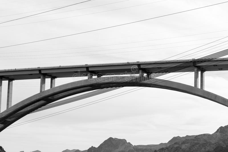 Mike O`Callaghan–Pat Tillman Memorial Bridge royalty free stock images