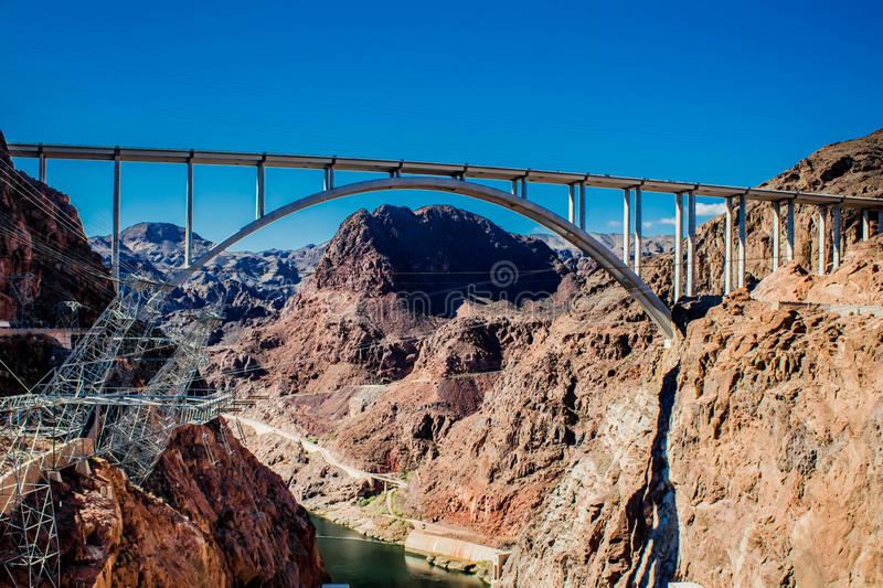 "Mike o `callaghan""pat tillman memorial bridge between Nevada and Arizona stock image"