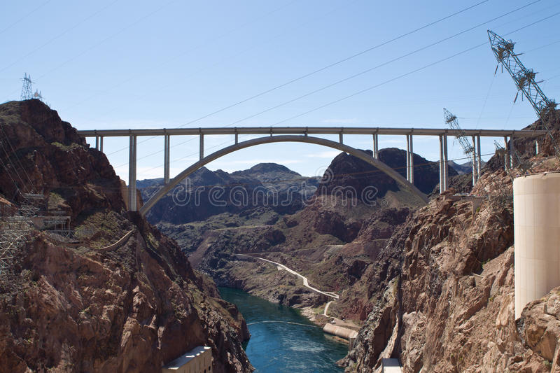 Mike O'Callaghan-Pat Tillman Memorial Bridge stock image