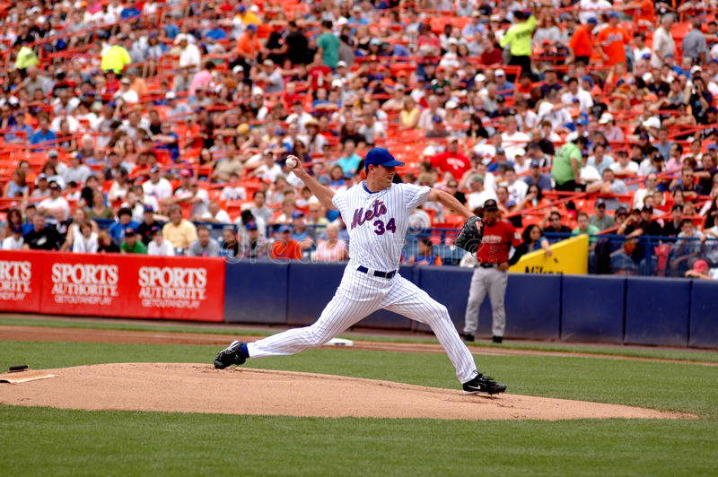 Mike Pelfrey New York Mets stockbilder