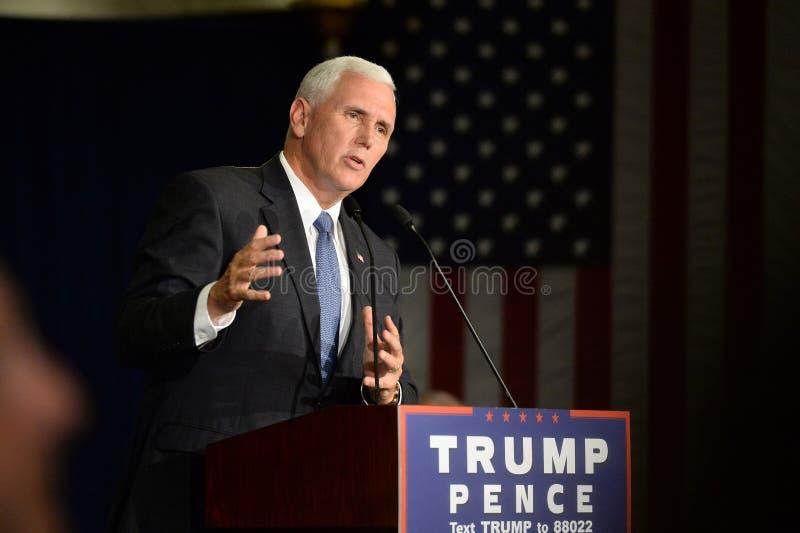 Mike Pence Rally für Trumpf lizenzfreie stockfotografie