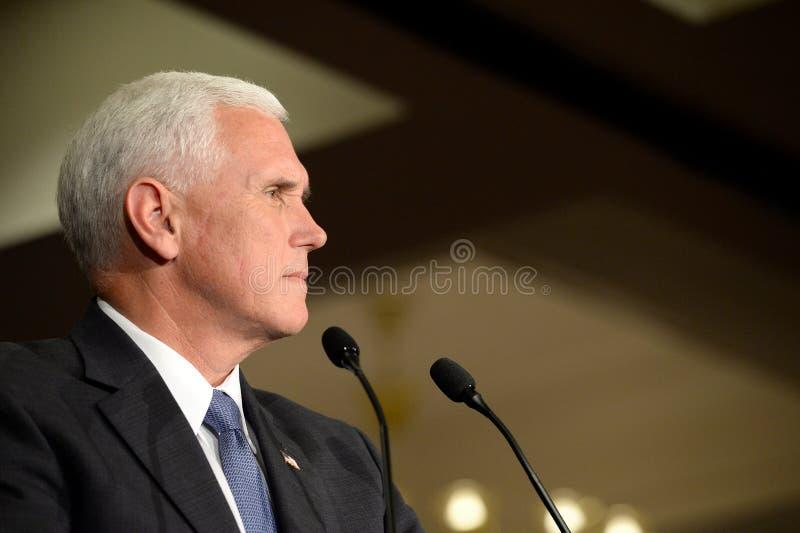 Mike Pence Rally pour l'atout photo stock