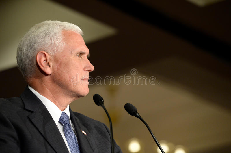 Mike Pence Rally for Trump stock photo