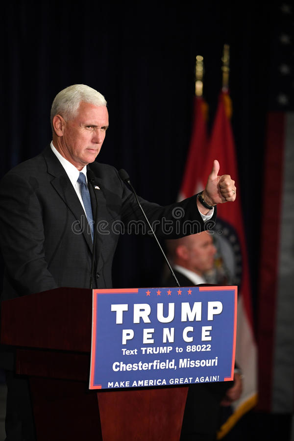 Mike Pence Rally voor Troef stock foto's