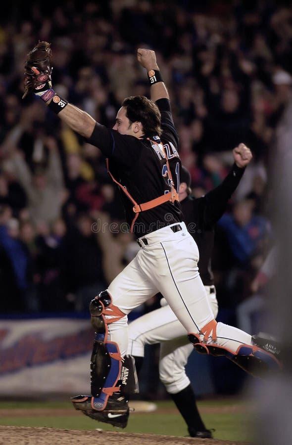 Mike Piazza New York Mets imágenes de archivo libres de regalías