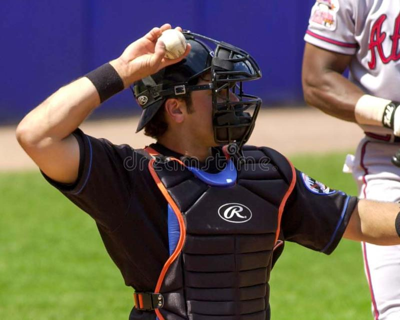 Mike Piazza, New York Mets photos libres de droits