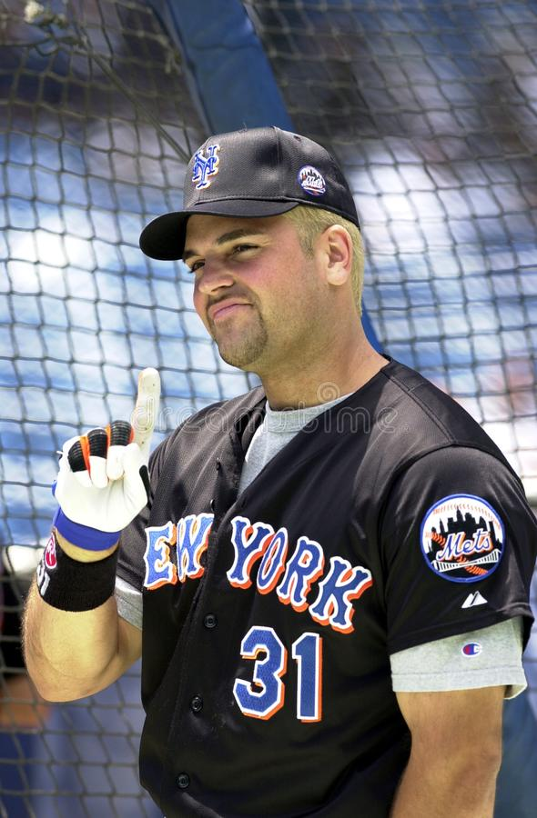 Mike Piazza New York Mets photo libre de droits