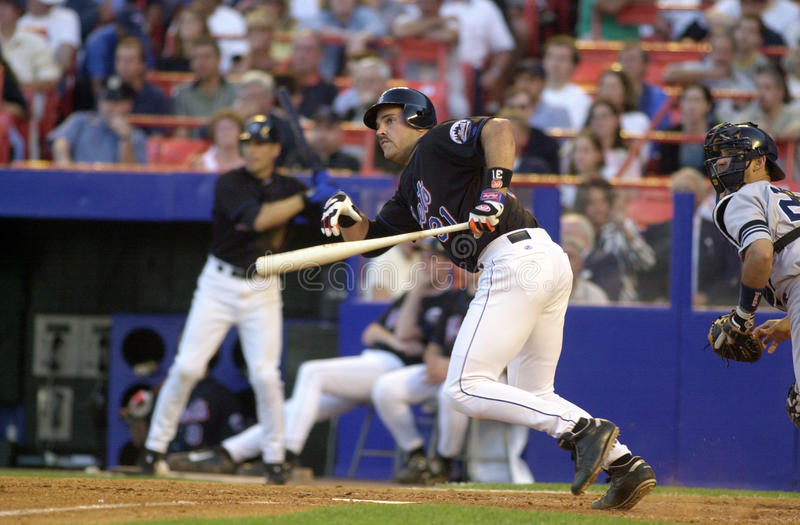 Mike Piazza Of The New York Mets immagine stock