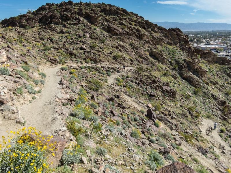 Mike Schuler Trail, Palm Desert, Kalifornien stockfoto