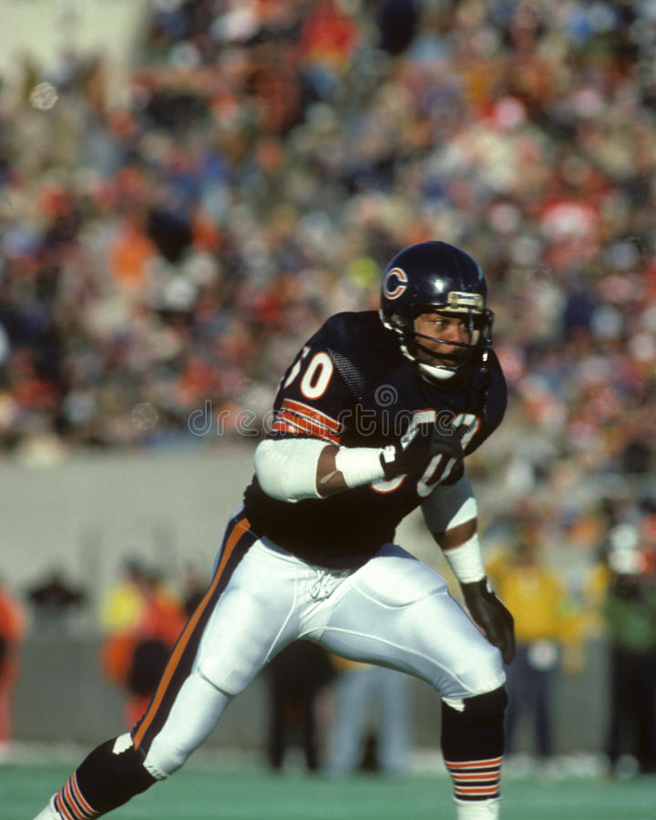 Mike Singletary, linebacker, chicago bears zdjęcia stock