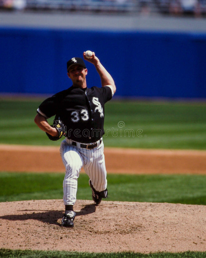 Mike Sirotka Chicago White Sox, pitcher. Chicago White Sox pitcher Mike Sirotka. (Image from color slide stock photos
