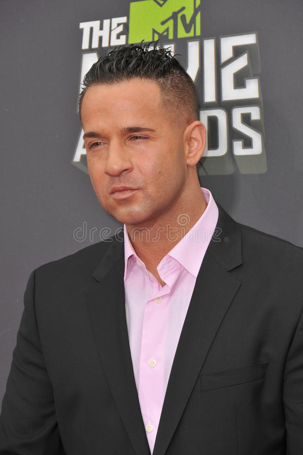 Mike Sorrentino. LOS ANGELES, CA - APRIL 14, 2013: Mike Sorrentino, aka The Situation, at the 2013 MTV Movie Awards at Sony Studios, Culver City stock image