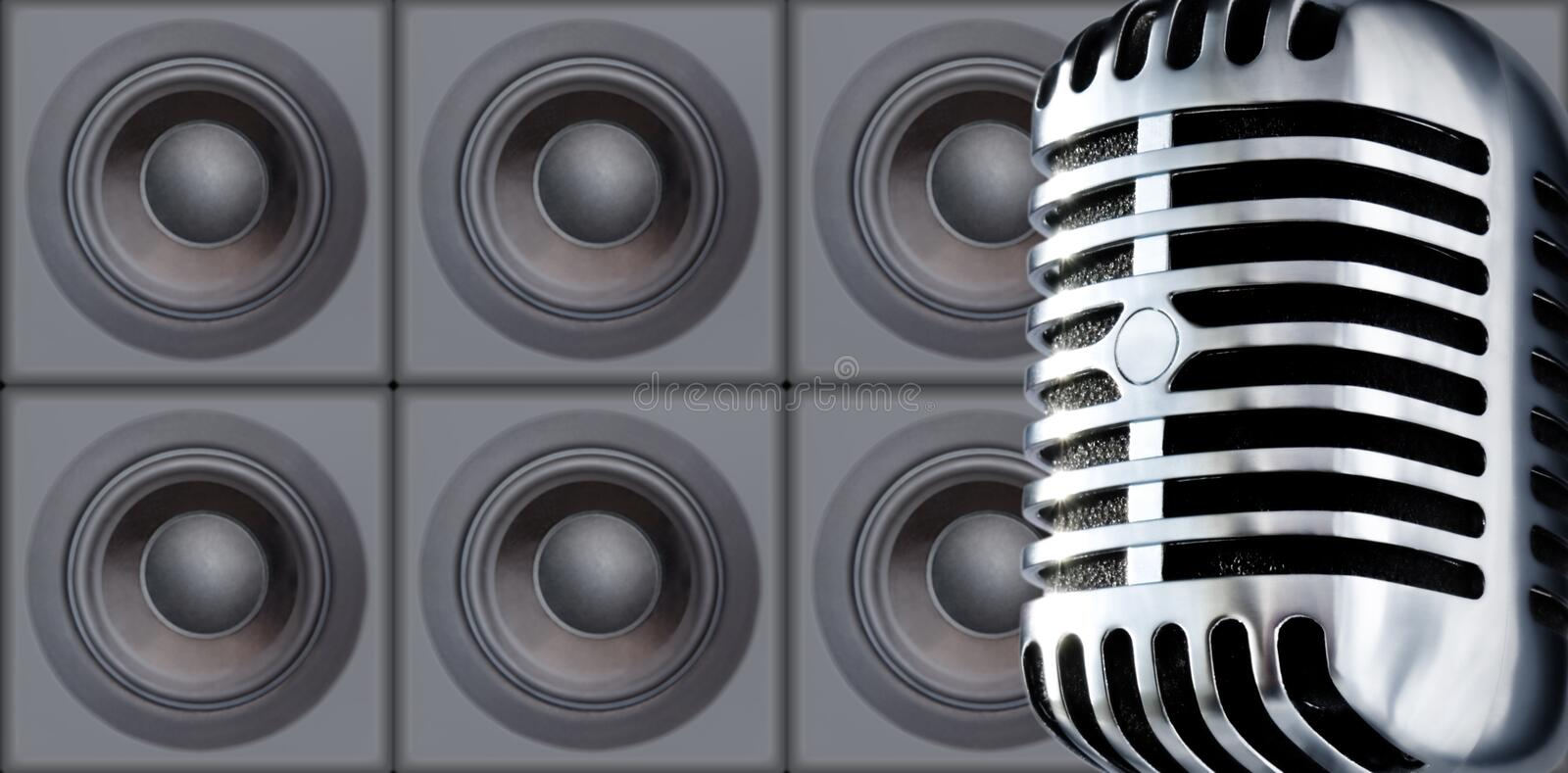 Mike&Speakers royalty free stock image