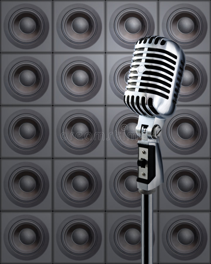 Mike&Speakers royalty free stock photos