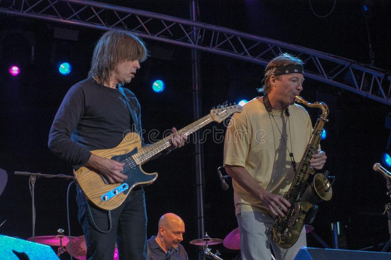 Mike Stern and Bill Evans of Steps Ahead stock images
