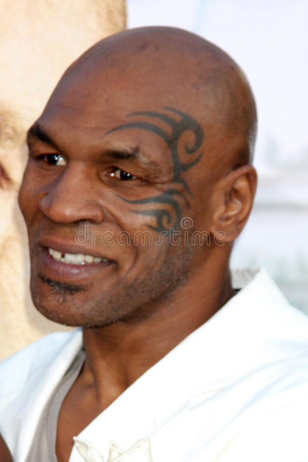 Mike Tyson. LOS ANGELES - MAY 19: Mike Tyson arriving at the The Hangover Part II Premiere at Grauman's Chinese Theater on May 19, 2011 in Los Angeles, CA stock images