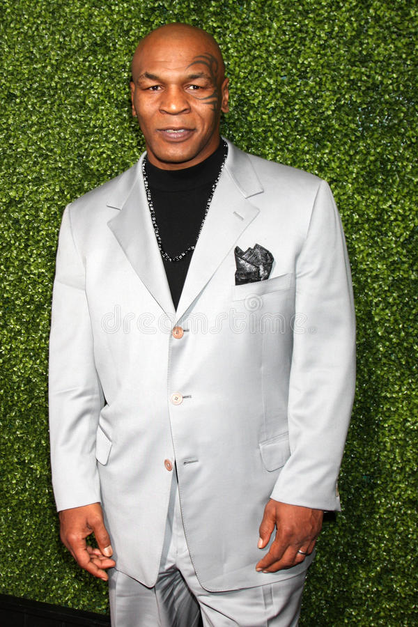 Mike Tyson. LOS ANGELES - JAN 6: Mike Tyson arrives at the Oprah Winfrey Network Winter 2011 TCA Party at The Langham Huntington Hotel on January 6, 2011 in stock photos