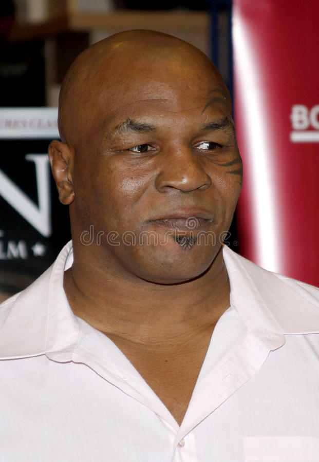 Mike Tyson. Promotes the Blu-ray and DVD Tyson held at the Borders in Hollywood, California, United States on August 18, 2009 royalty free stock photos