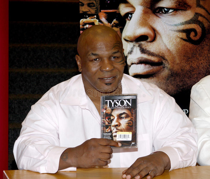Mike Tyson. Promotes the Blu-ray and DVD 'Tyson' held at the Borders in Hollywood, USA on August 18, 2009 royalty free stock photography