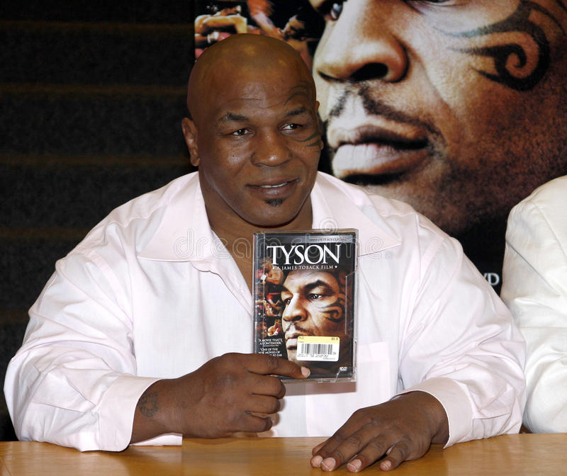 Mike Tyson. Promotes the Blu-ray and DVD 'Tyson' held at the Borders in Hollywood, USA on August 18, 2009 stock photos