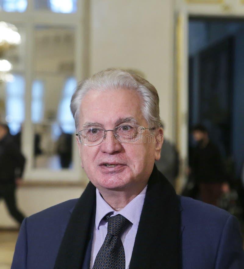 Mikhail Borisovich Piotrovsky Diretor do eremitério do estado fotografia de stock