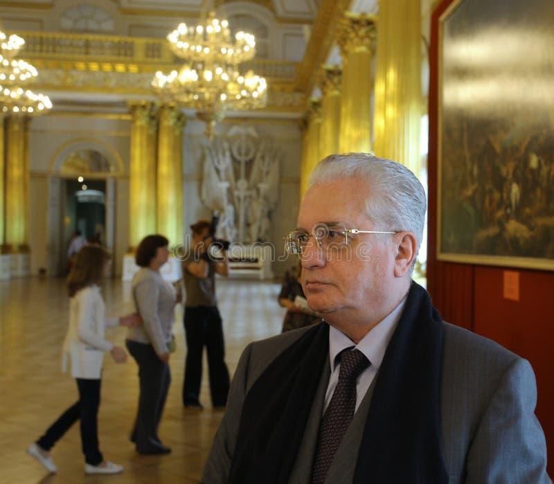 Mikhail Borisovich Piotrovsky Diretor do eremitério do estado fotos de stock royalty free