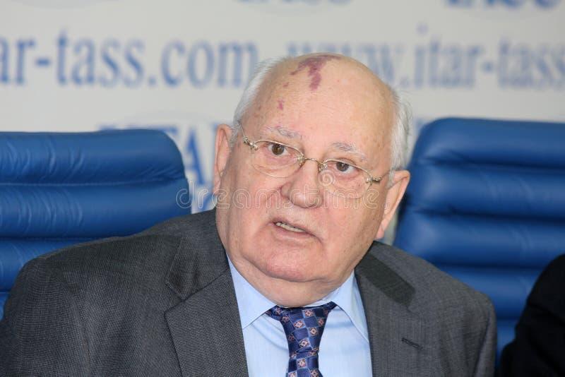 mikhail gorbachev стоковое изображение