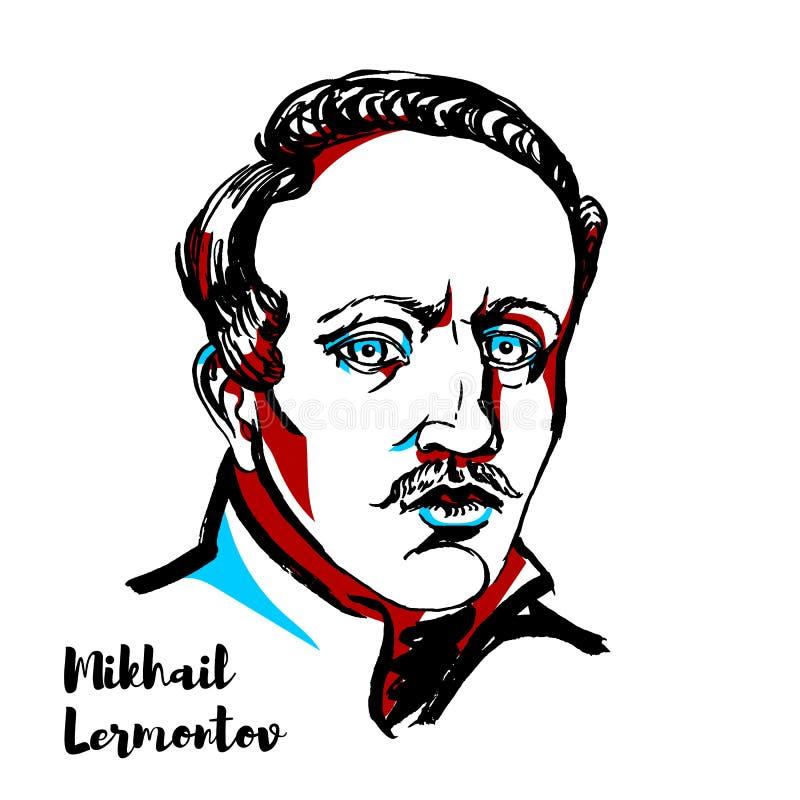 Mikhail Lermontov ilustracja wektor