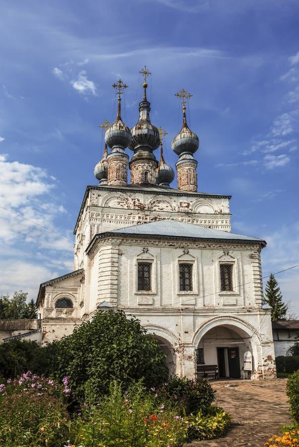 Mikhailo-Arkhangelsk monaster Zakazuje Ñ  hurch John teolog Miasto Yuryev-Polsky, Vladimir region obraz royalty free