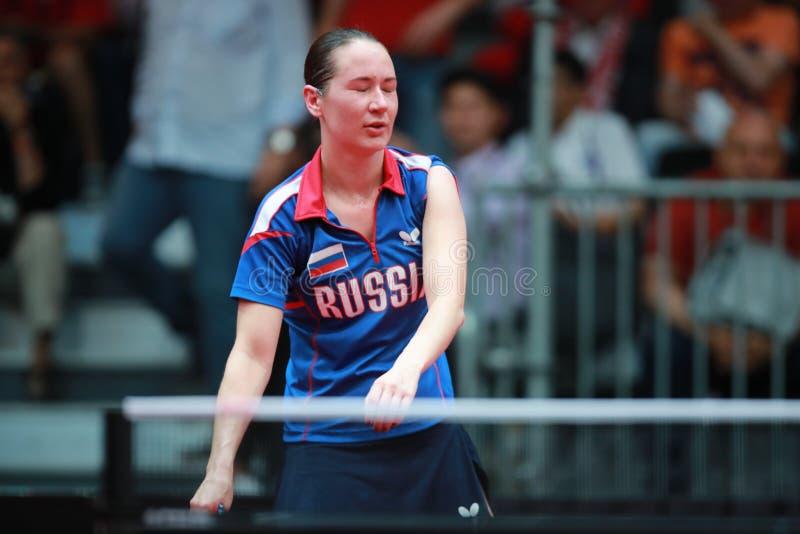 MIKHAILOVA Polina van teleurgesteld Rusland royalty-vrije stock foto's