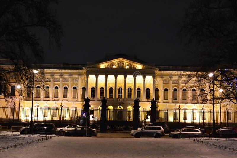 Download Mikhailovsky παλάτι ρωσικά νύχτας μουσείων Στοκ Εικόνες - εικόνα από καλλιέργεια, νύχτα: 22789448