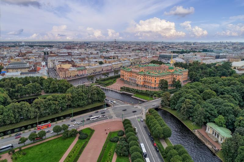 Mikhailovsky проектирует замок стоковая фотография rf