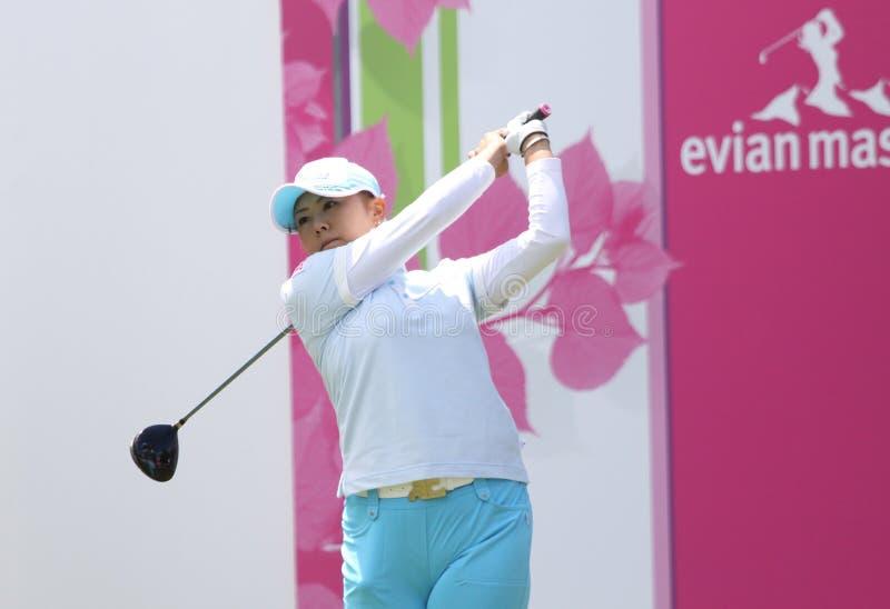 Miki Saiki in Evian beheerst 2010 stock afbeelding