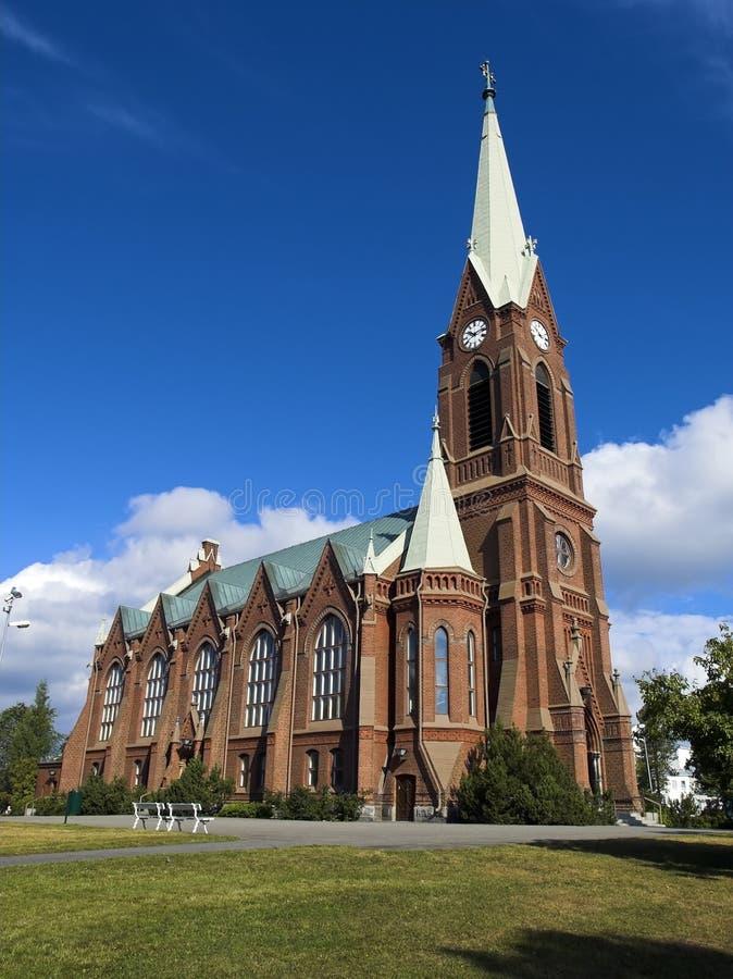 Mikkeli cathedral stock photo