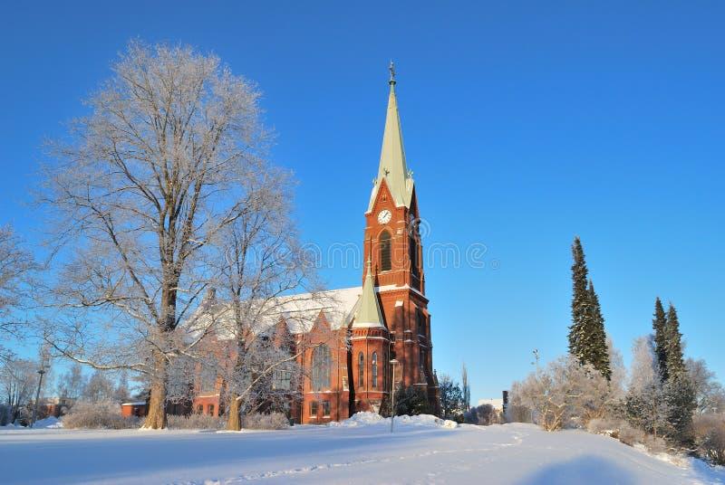 Mikkeli, Finlandia. Luterańska katedra zdjęcia royalty free