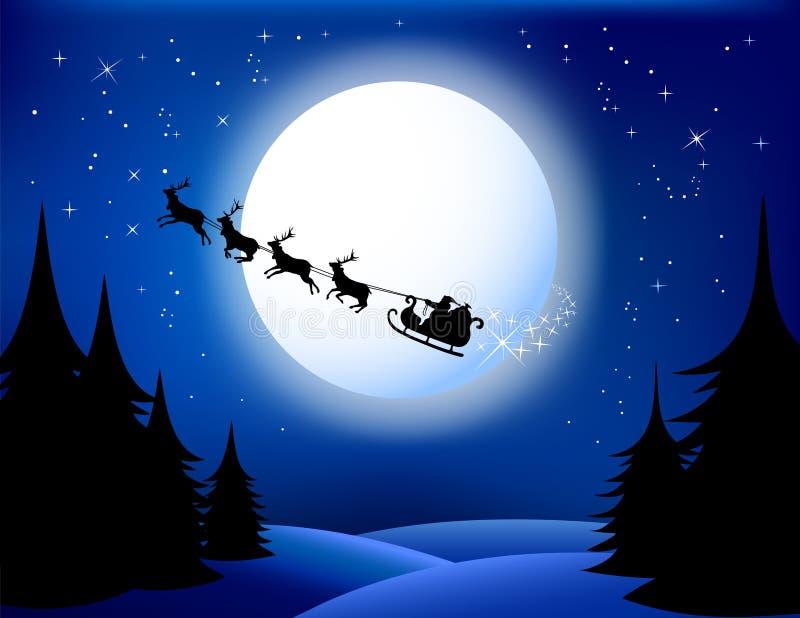 Mikołaj jest sanie royalty ilustracja