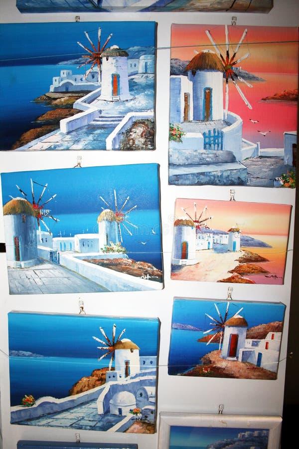 Mikonos obrazy zdjęcie royalty free