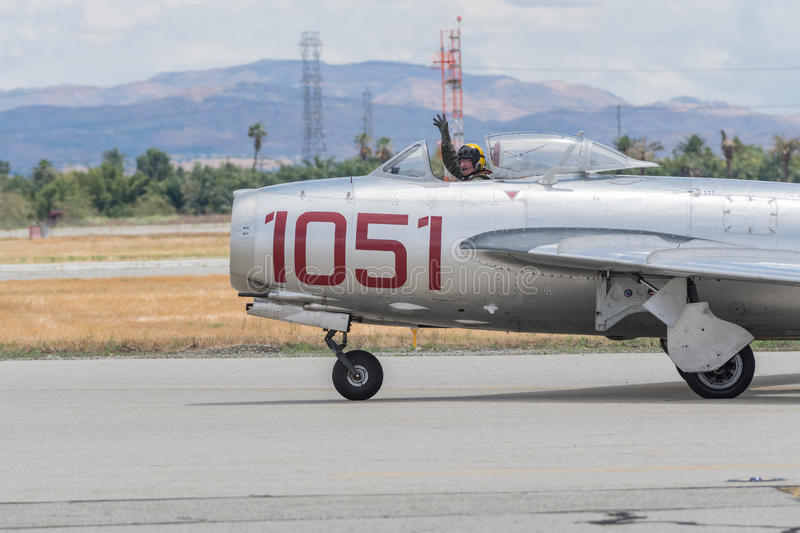 Mikoyan-Gurevich MiG-15 on display stock photos