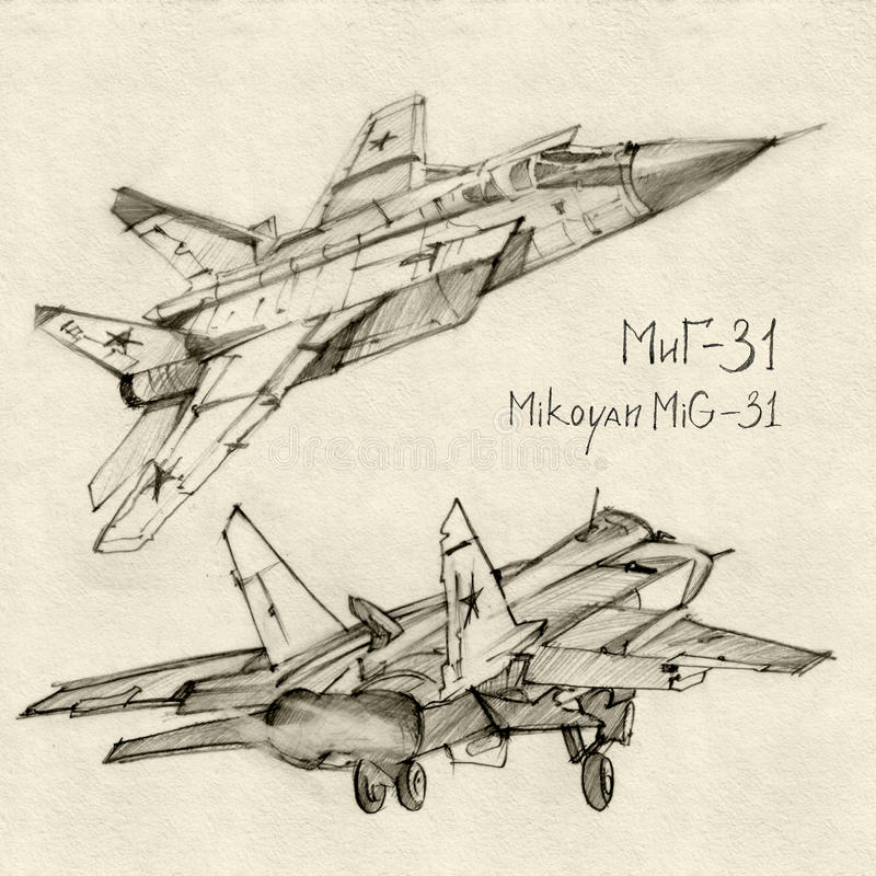 Download The Mikoyan MiG-31 stock illustration. Image of aviation - 19550149