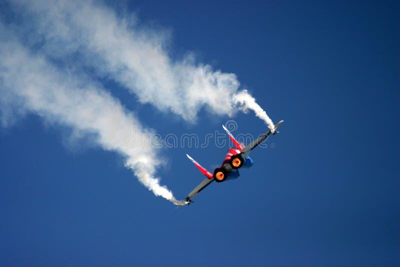 Mikoyan MiG-29 au tatouage d'air de RAF images libres de droits