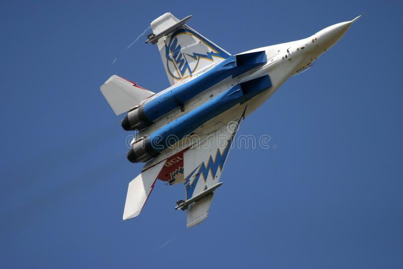 Mikoyan MiG-29 au tatouage d'air de RAF photo libre de droits