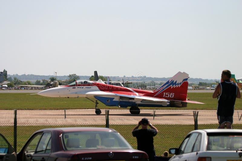 Mikoyan MiG-29 au tatouage d'air de RAF images stock