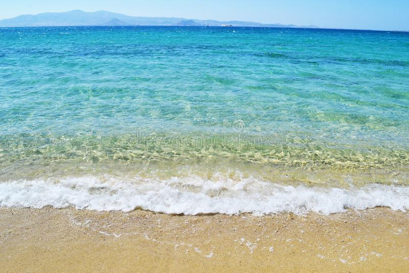 Mikri Vigla beach Naxos island Greece stock photo